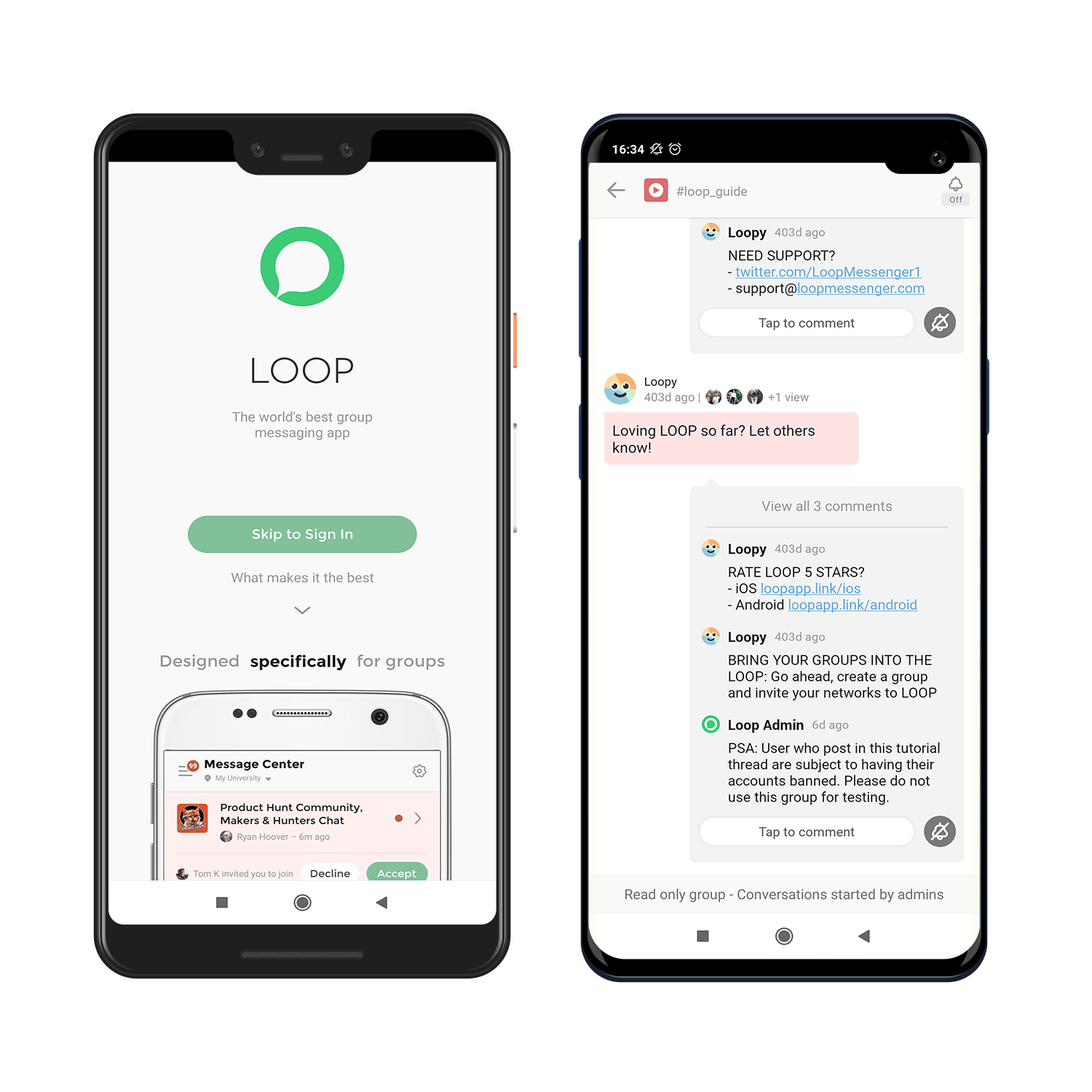 loop messenger kotlin app