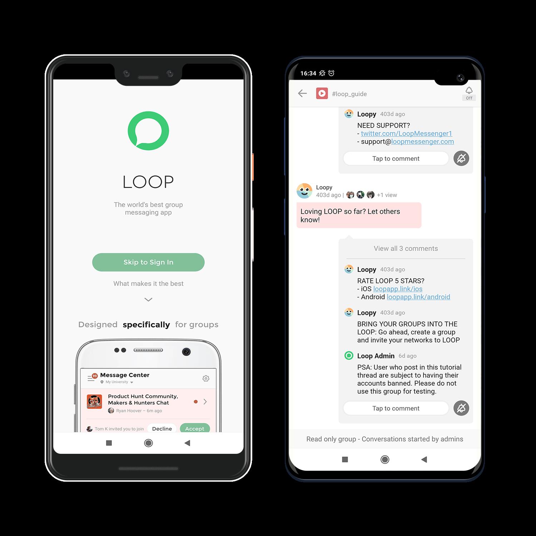 loop messenger kotlin app